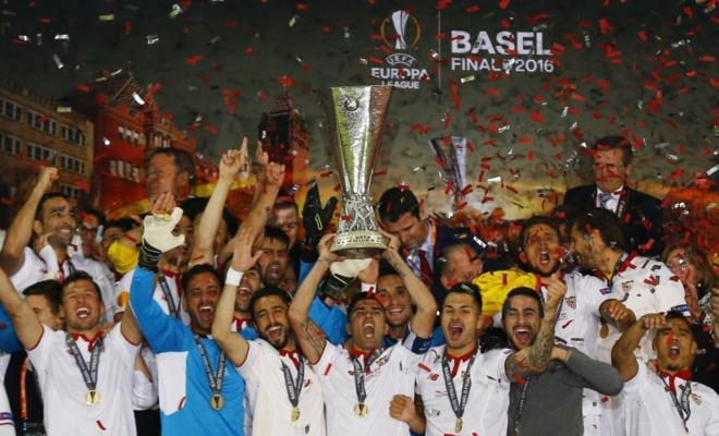 Sevilla Sevilla ¡Sevilla! ¡Sevilla! ¡Sevilla! Histórica tercera Europa League consecutiva