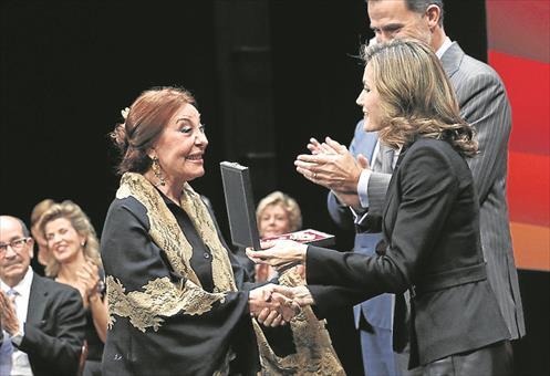 Actualidad Actualidad Vicente Amigo y Blanca del Rey reciben con emoción la Medalla de las Bellas Artes
