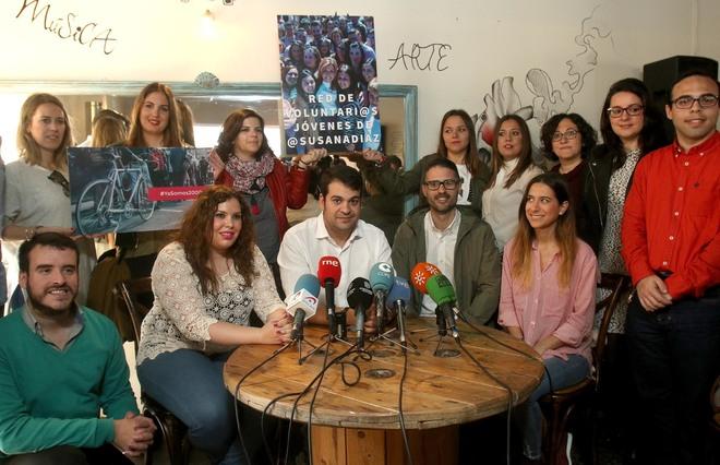 Actualidad Actualidad La cúpula de Juventudes Socialistas, con Susana Díaz