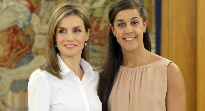 Actualidad Actualidad La inesperada petición de la reina Letizia a la olímpica Carolina Marín.